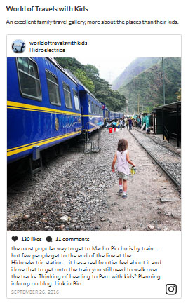 Best Family Instagram accounts, Travel Babbo